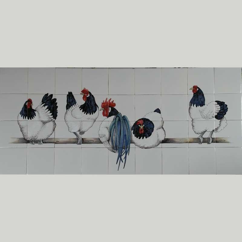 RH36-2, 5 Lakenfelder Hühner