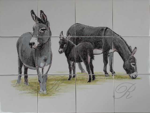 RH12-R Esel Familie