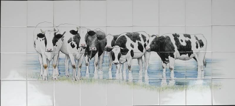 RH24-6, Kühe im Fluss