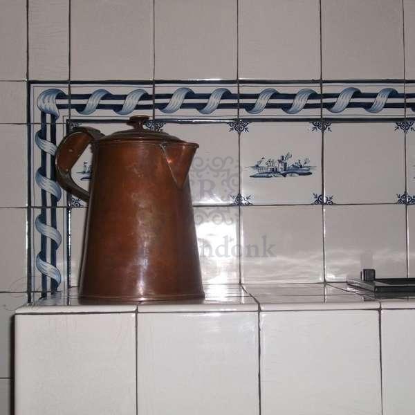 Kachelofen mit Friesische Fliesen