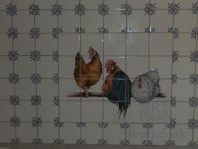 Ochsenkopf und Hühner