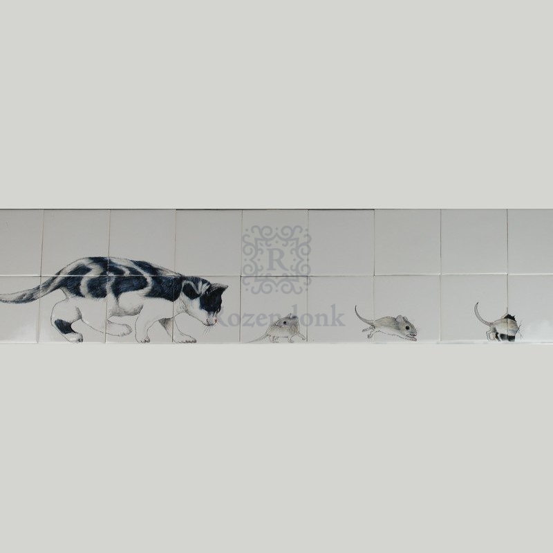 RH13-2, Katze jagd Mäuse
