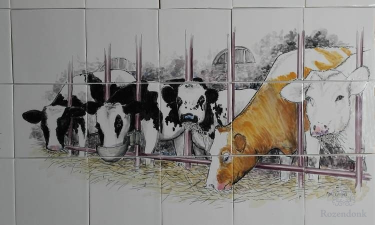 RH15-Kühe im Kuhstall