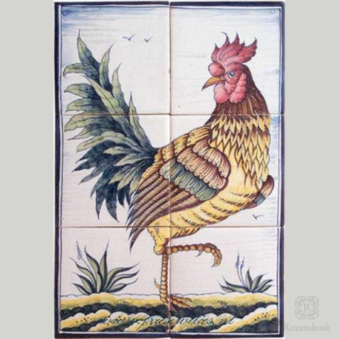 RH6-22, Hahn und Huhn ca. 1750