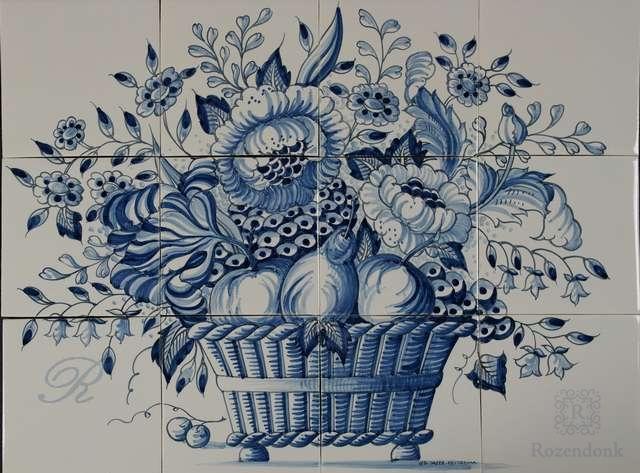 RF12-12 dekorative Korb mit Blumen