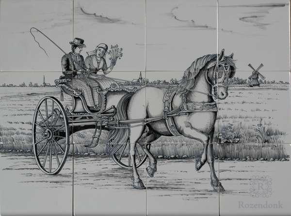 RF12-4, Pferd mit Friesische Kutsche
