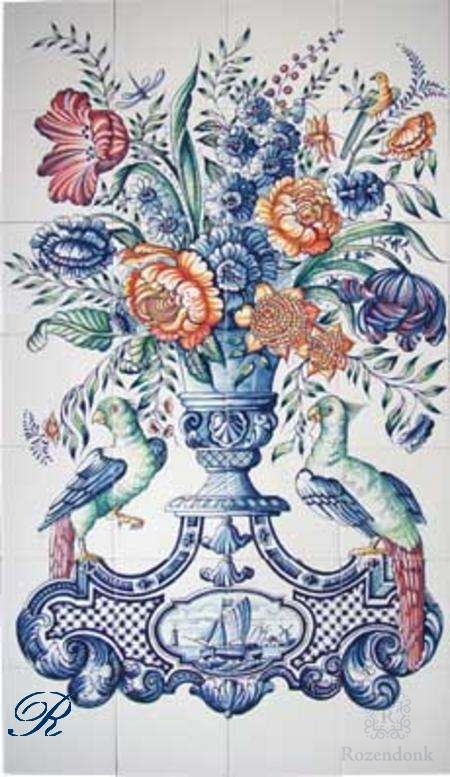 RF28-4, Vase mit Blumen