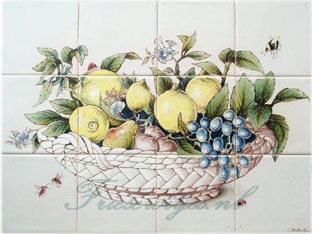 RH12-13 Schale mit Früchte