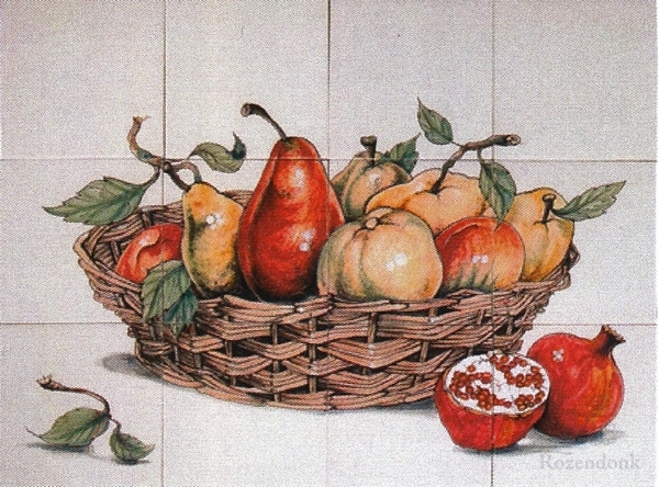 RH12-23 Korb mit Früchte
