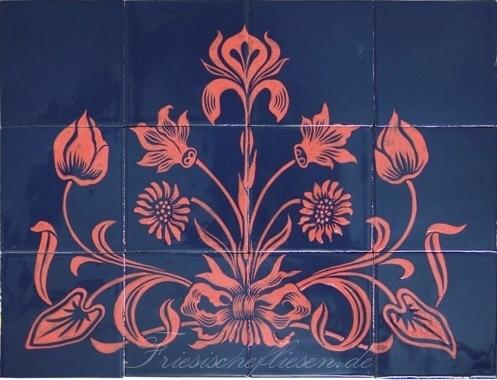 RH20-20 Artdeko Blumen Motiv