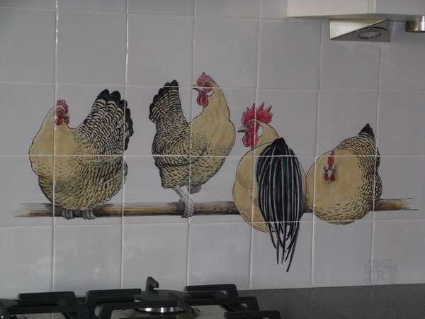 Hühner auf Stange