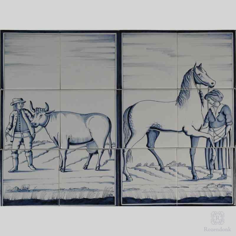 RF6-8/9 Bauer mit Kuh oder Bauerin mit Pferd
