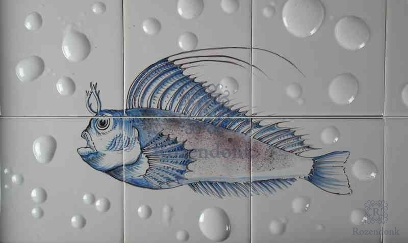 Fish8 auf 2 Fliesen