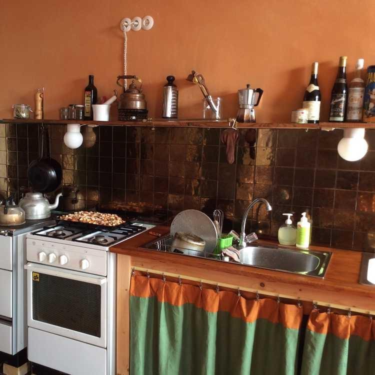 Bronze Fliesen im Küche
