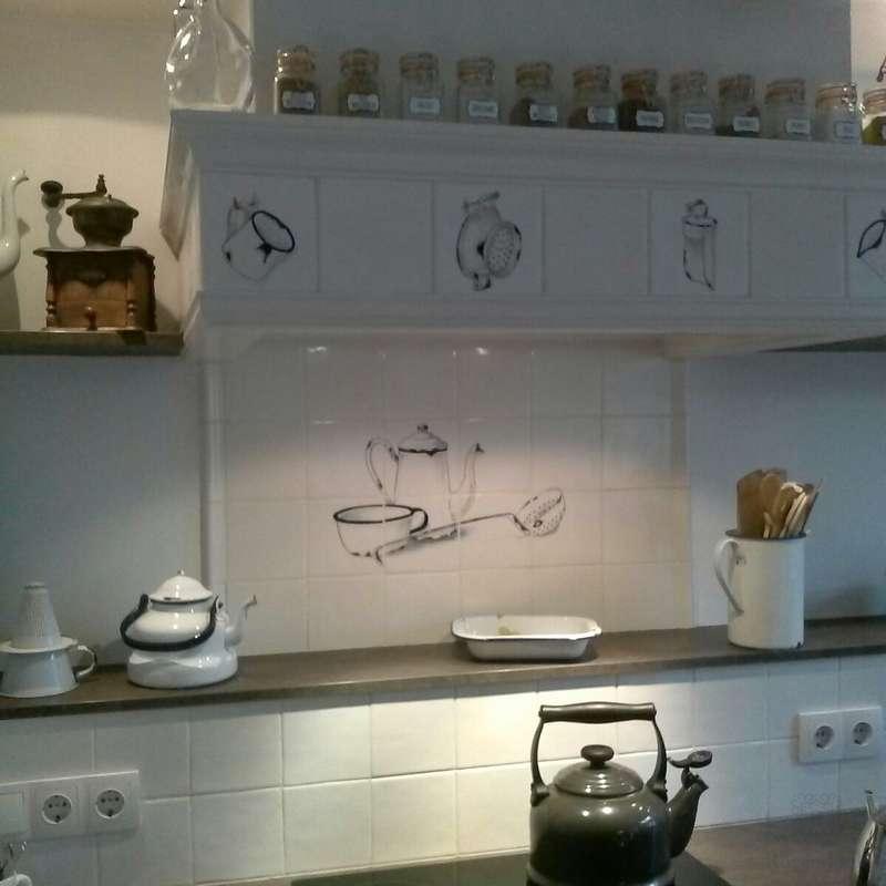 Emaille Objekten im Küche