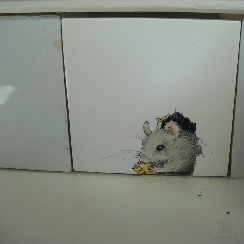 Treppe mit Mäuse