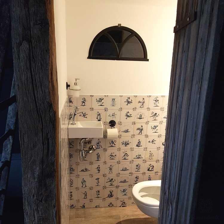 Toilette voll mit Landschafte