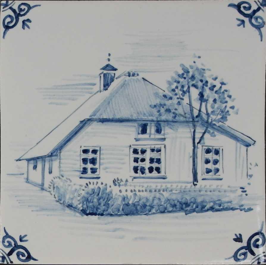 Ihr Haus auf eine Fliese gemalt