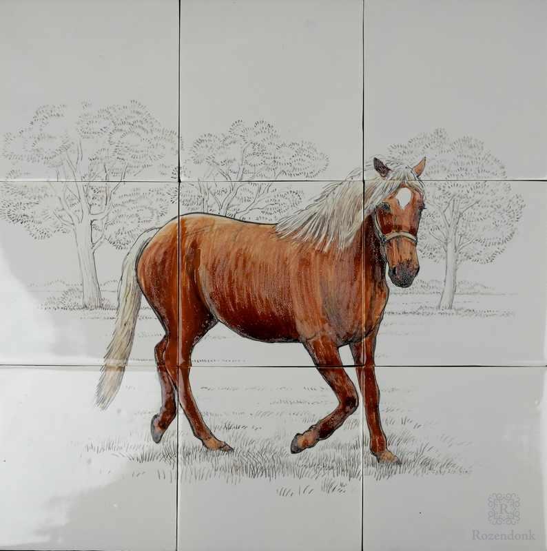 Pferd auf 9 Fliesen