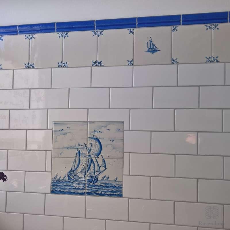 Badezimmer mit Friesische Fliesen komplettier
