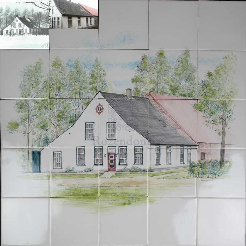 Haus vom Großeltern auf Fliesen
