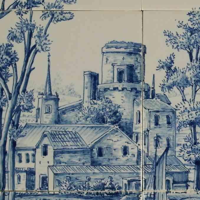 Blick auf altes Schloss