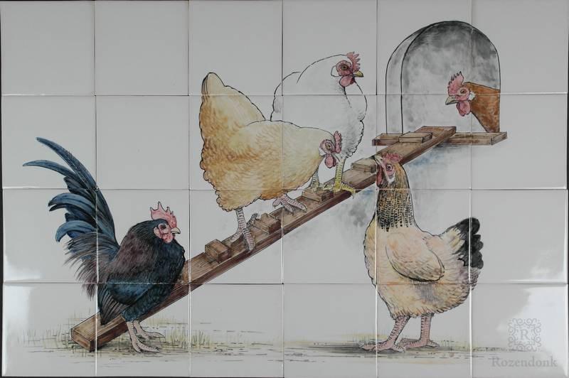 Hühnerstall mit Konrad und Magda