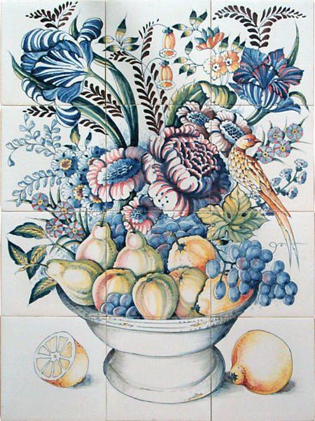 RH12-20 Schale mit Früchte und Blumen