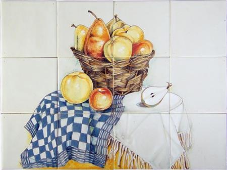 RH12-22 Korb mit Früchte