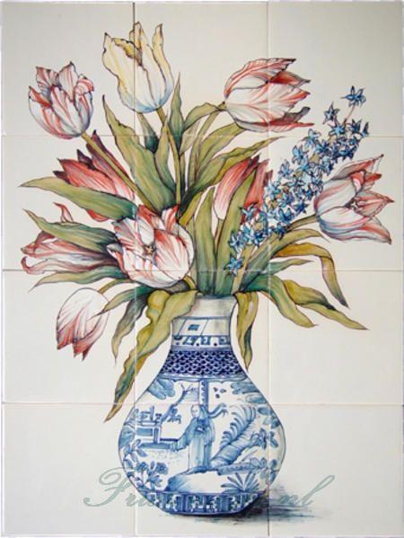 RH12-29 Vase mit Tulpen