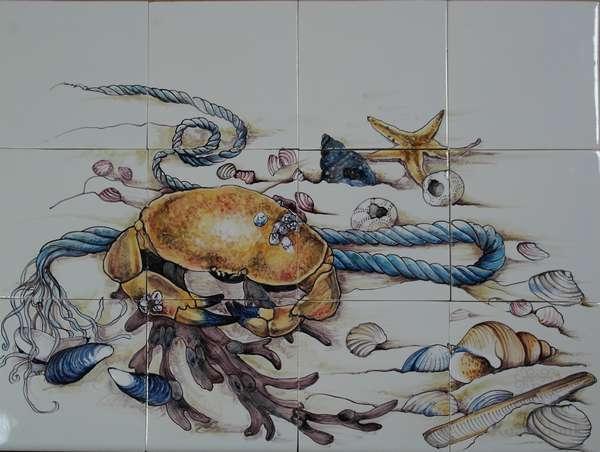 RH12-50, Krabbe und Muscheln