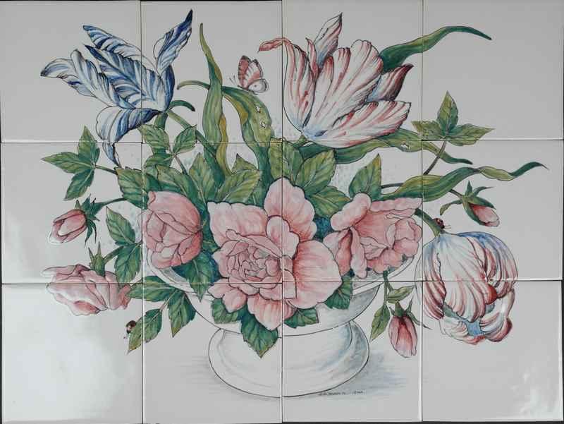 RH12-8 Schale mit Tulpen