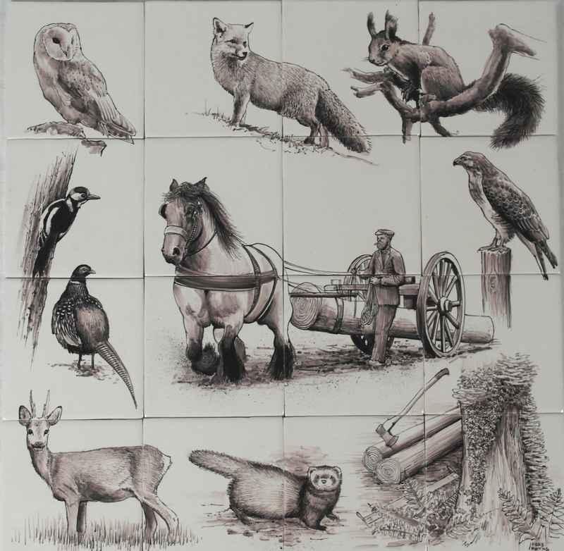 RH16 Tieren im Wald