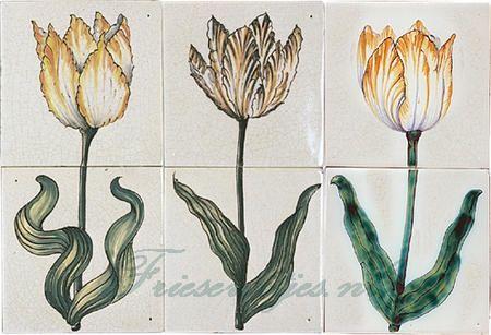 RH2-9 Tulpen je auf 2 Fliesen