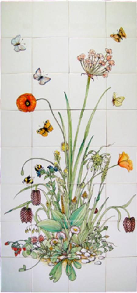 RH32-1 Schwäne Blumen, Butomus umbellatus