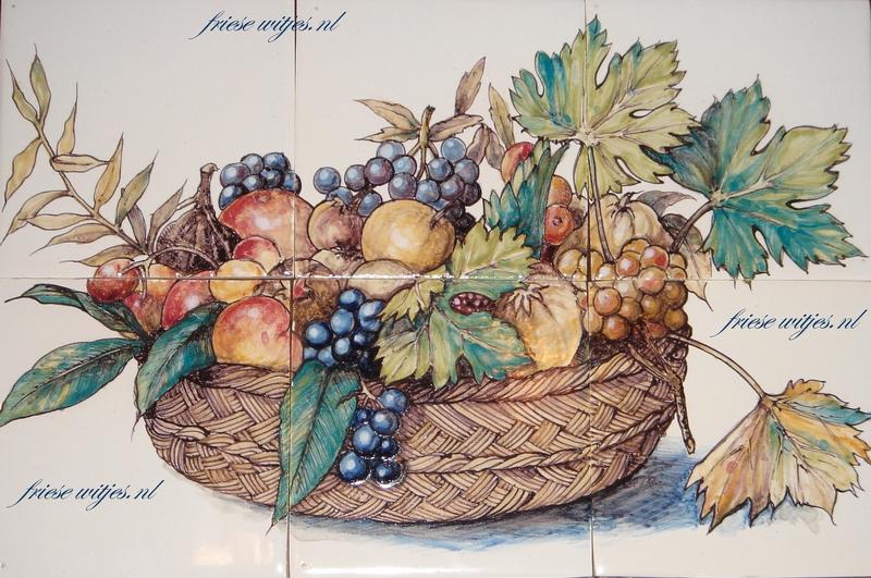 RH6-14 Korb mit Früchte