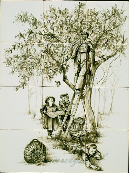 RH12-40 Äpfel pflücken