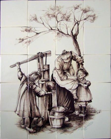 RH12-41 Mutter mit Kindern