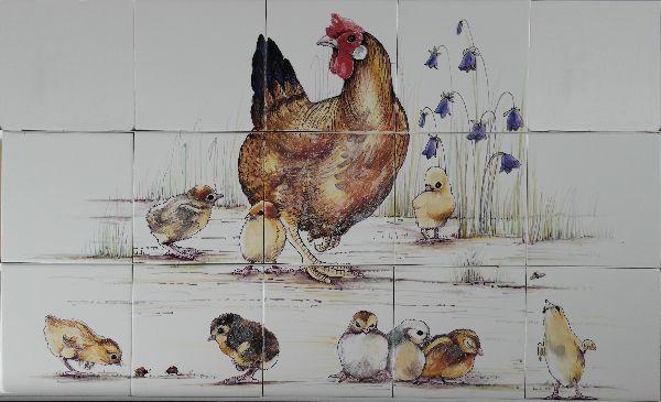 RH9-6, Henne mit Kücken