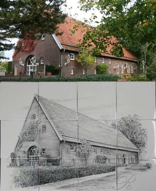 Haus auf 12 Fliesen