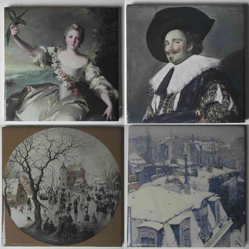 Gemälde gedruckt auf Fliesen