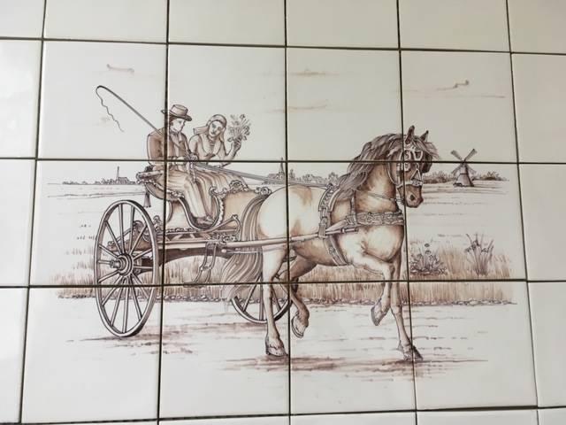 Friesische Kutsche auf 12 Fliesen