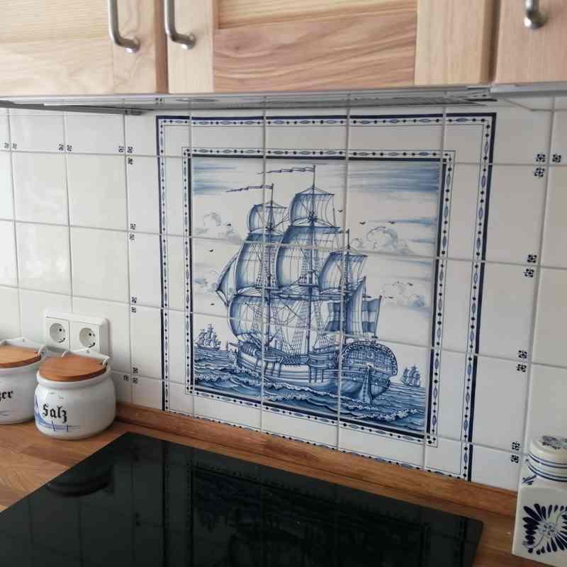 VOC schiff mit bordüre