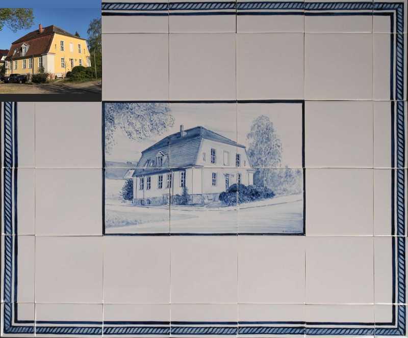 Haus mit Bordüre