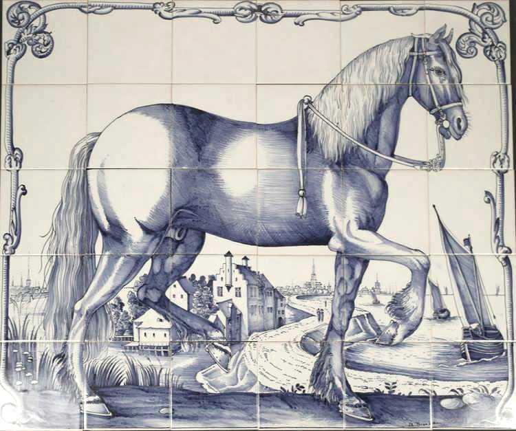 Friesisches Pferd auf 30