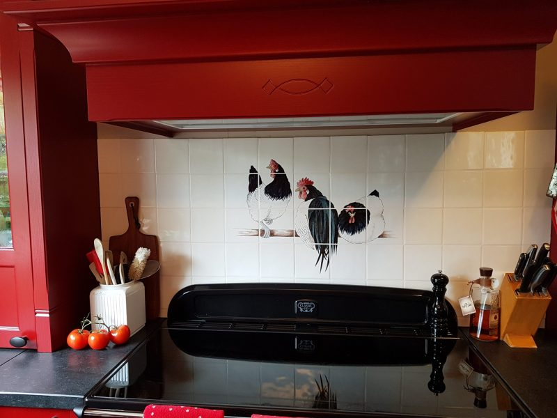 Küche mit Lakenvelder Hühner