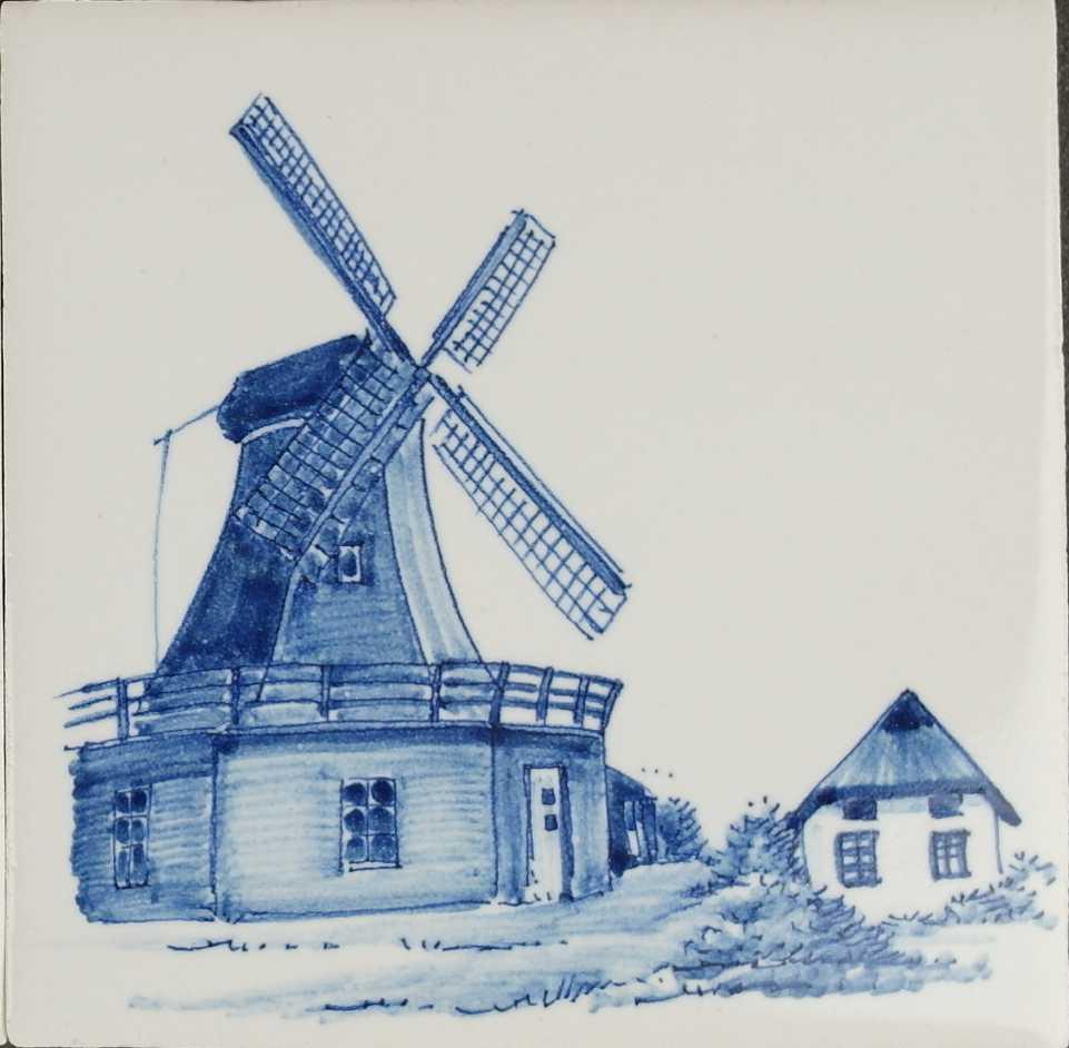 Mühle auf Fliesen
