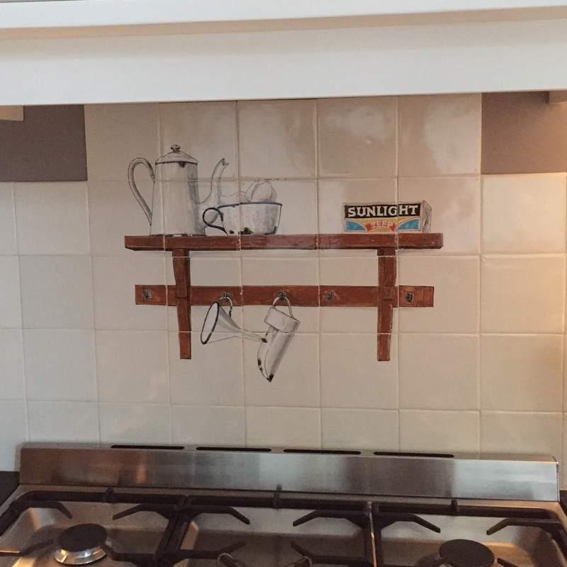 Alte Emaile Küchengeräte