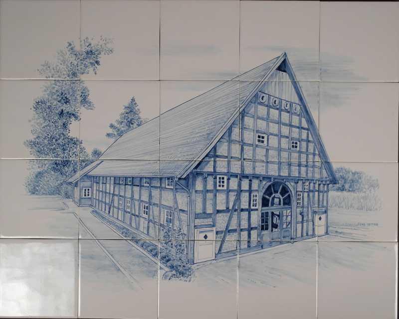 Deutsches Fachwerk-Bauernhaus