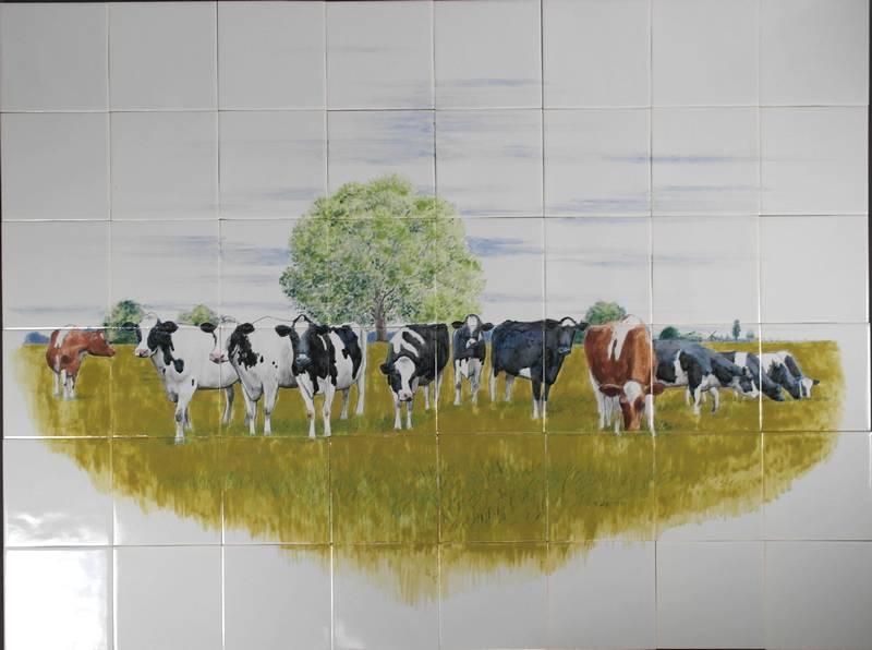 Holländische Kühe in Frankreich
